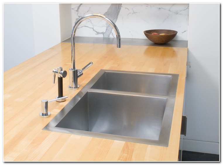 Flush Mount Stainless Steel Kitchen Sink