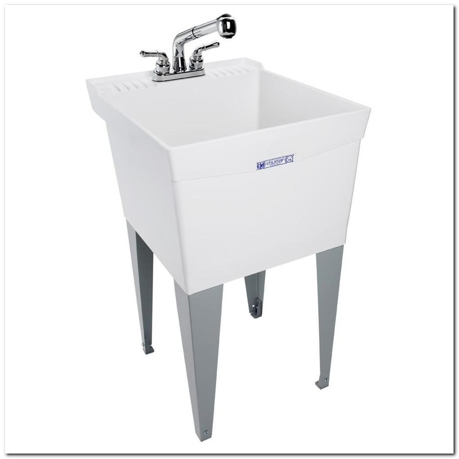 Freestanding Utility Sink With Washboard