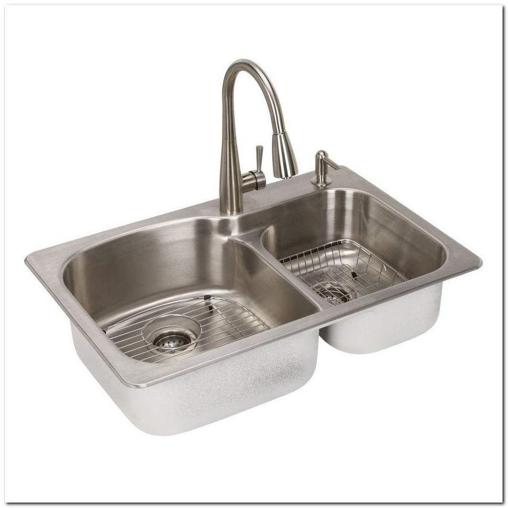 Glacier Bay Kitchen Sink Combo Kit
