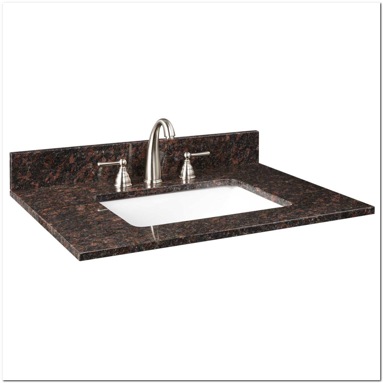 Granite Vanity Top With Rectangular Undermount Sink