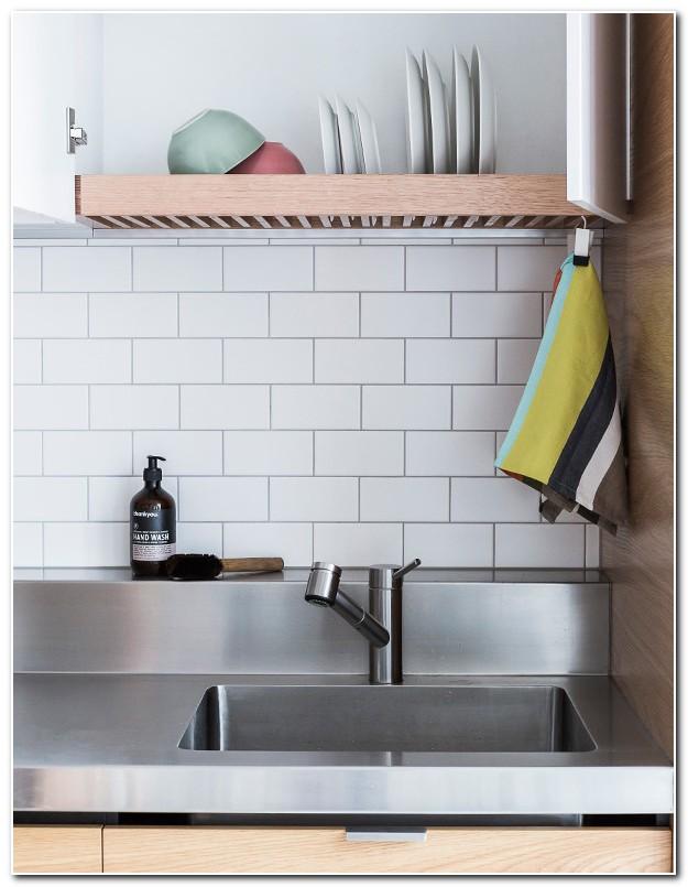 Hidden Dish Drainer Above Sink