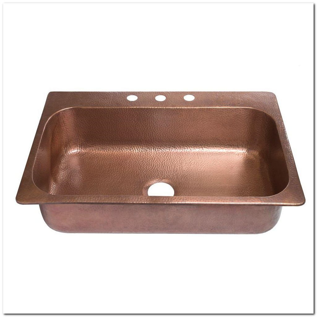 Home Depot Copper Drop In Sink
