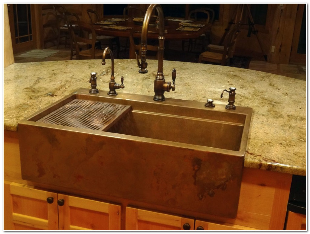 Installing Copper Apron Front Sink