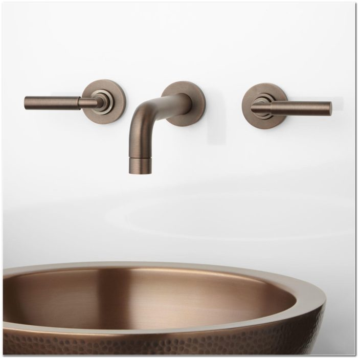 Installing Wall Mounted Bathroom Sink Faucet