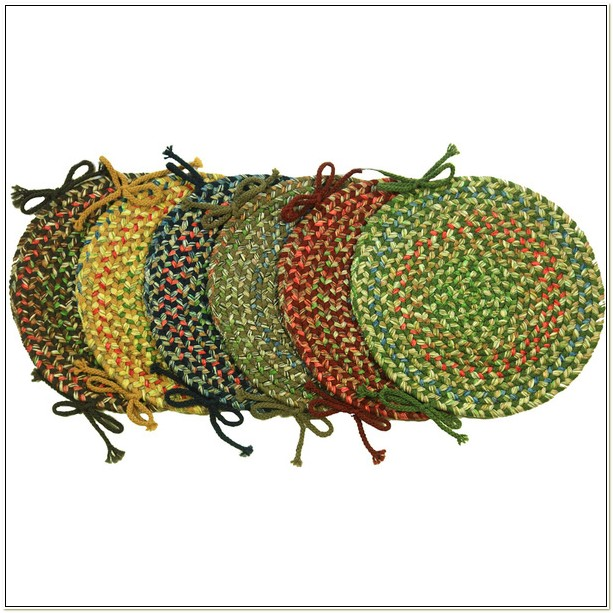 14 Inch Round Braided Chair Pads