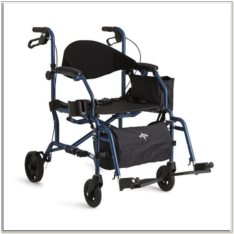 300 Lb Capacity Rollator Transport Chair Combo
