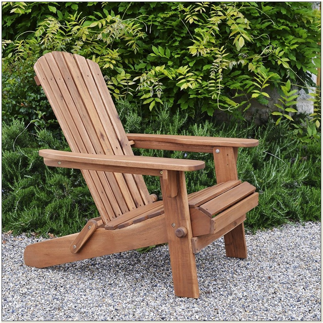 Acacia Wood Folding Adirondack Chair