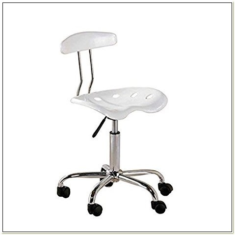 Ace Bayou White Tractor Seat Task Chair