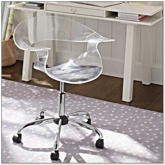 Acrylic Rolling Desk Chair