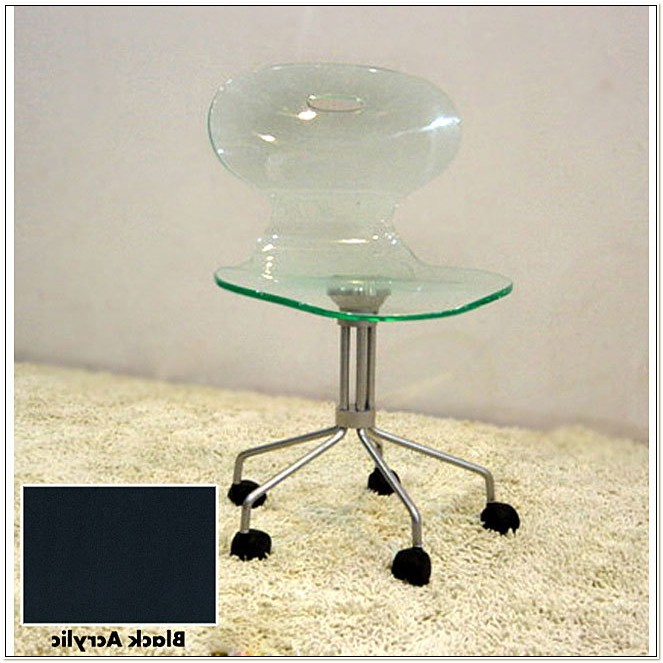 Acrylic Rolling Office Chair