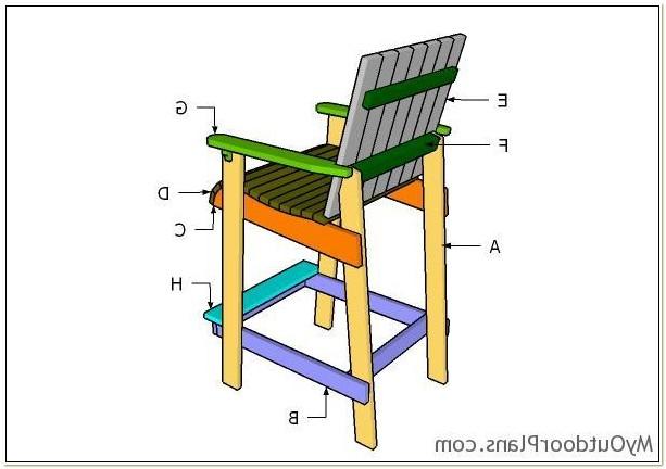 Adirondack Bar Height Chair Plans