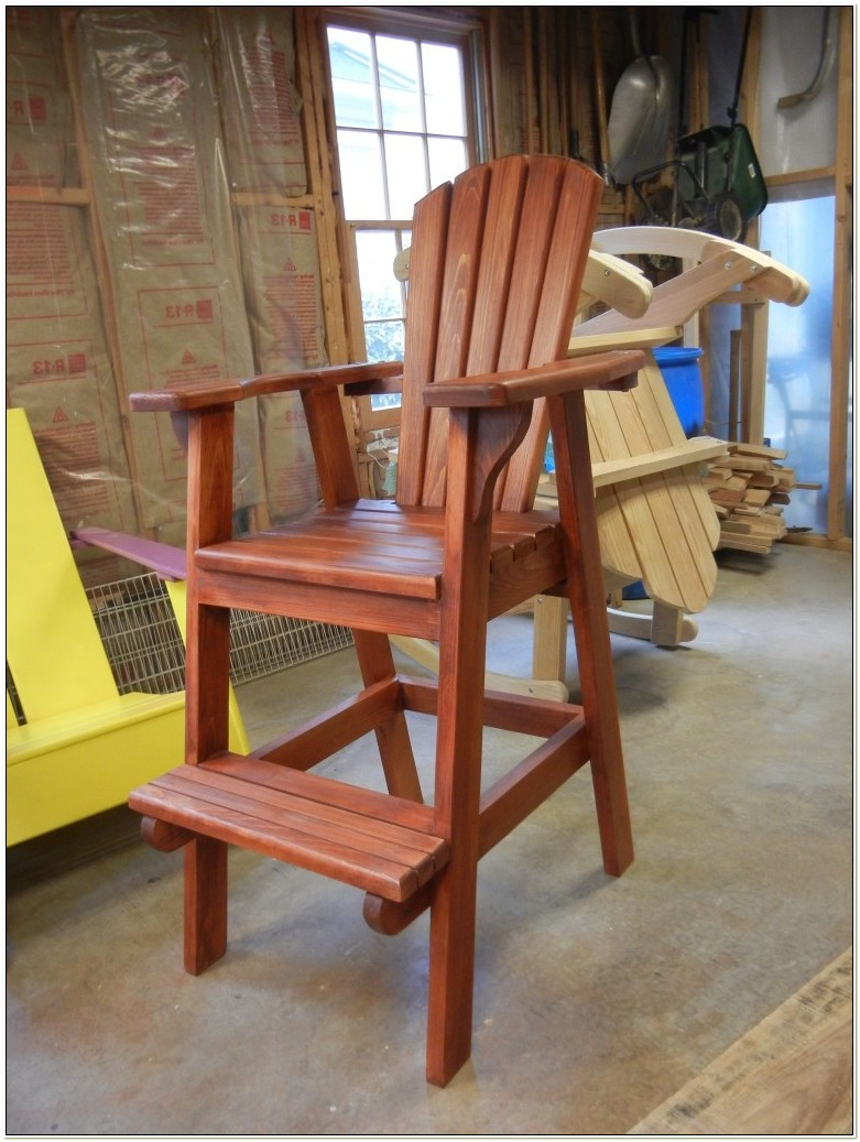 Adirondack Bar Stool Chair Plans