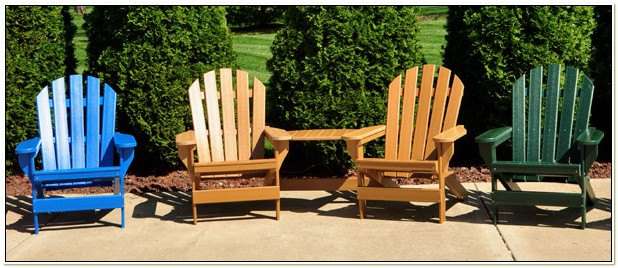 Adirondack Chairs From Recycled Plastic