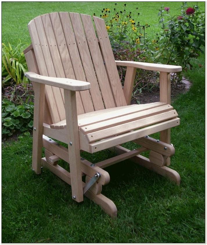 Adirondack Glider Chair Woodworking Plans