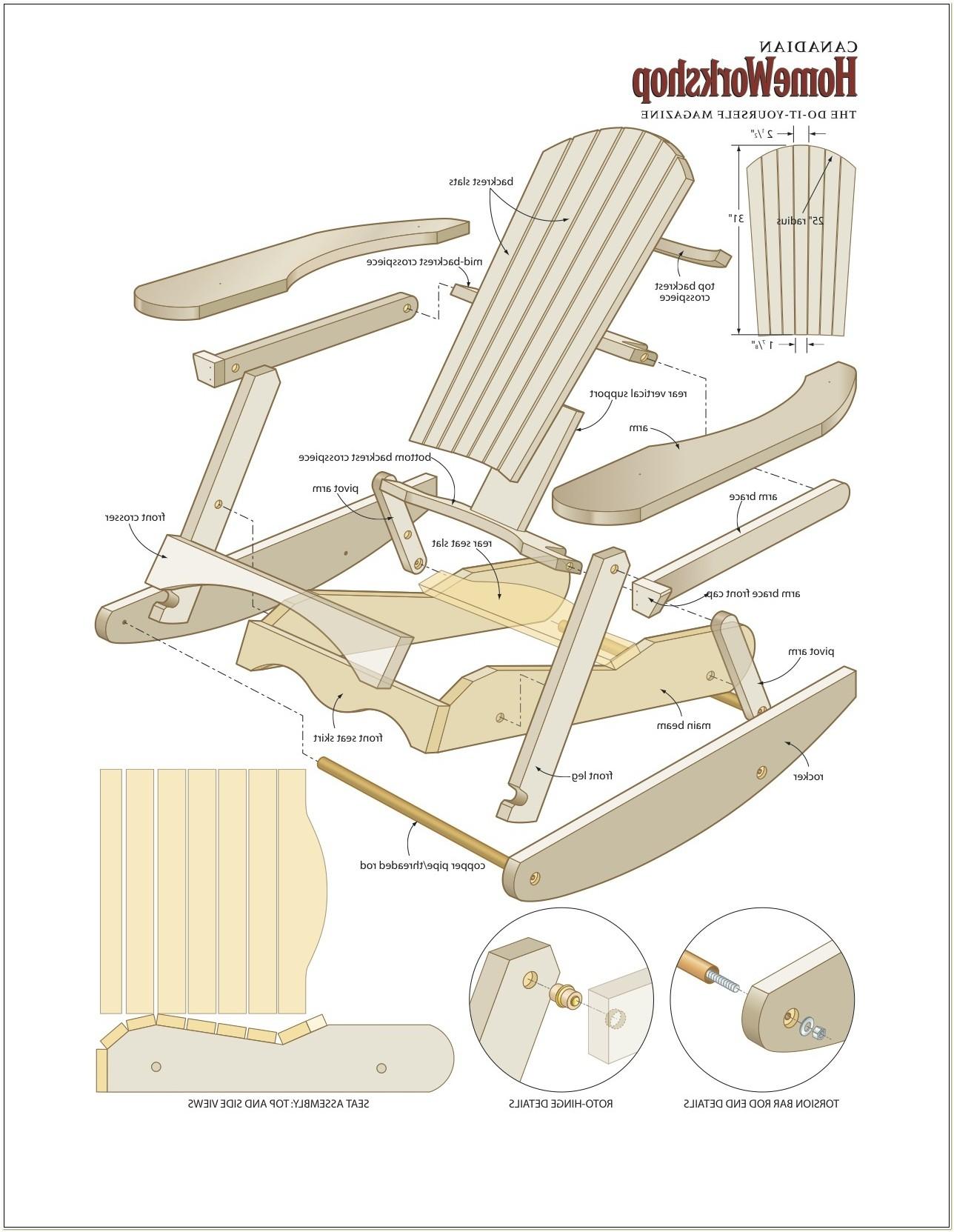 Adirondack Rocking Chair Plans Pdf