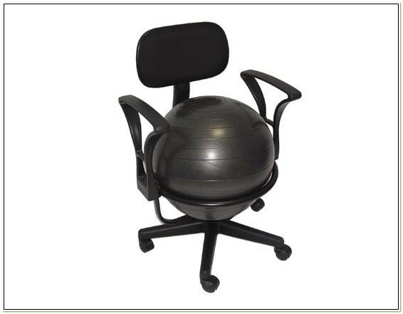 Aeromat Deluxe Ergonomic Ball Office Chair 35955