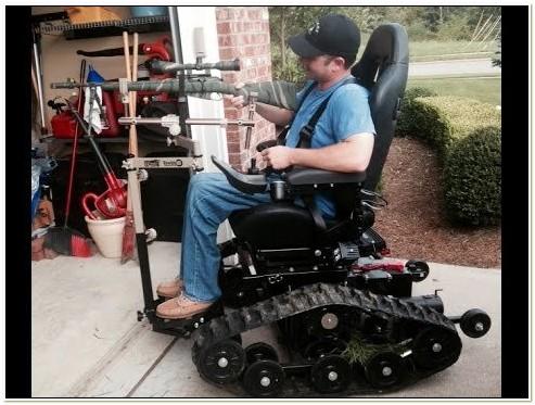 All Terrain Power Wheelchair With Tracks