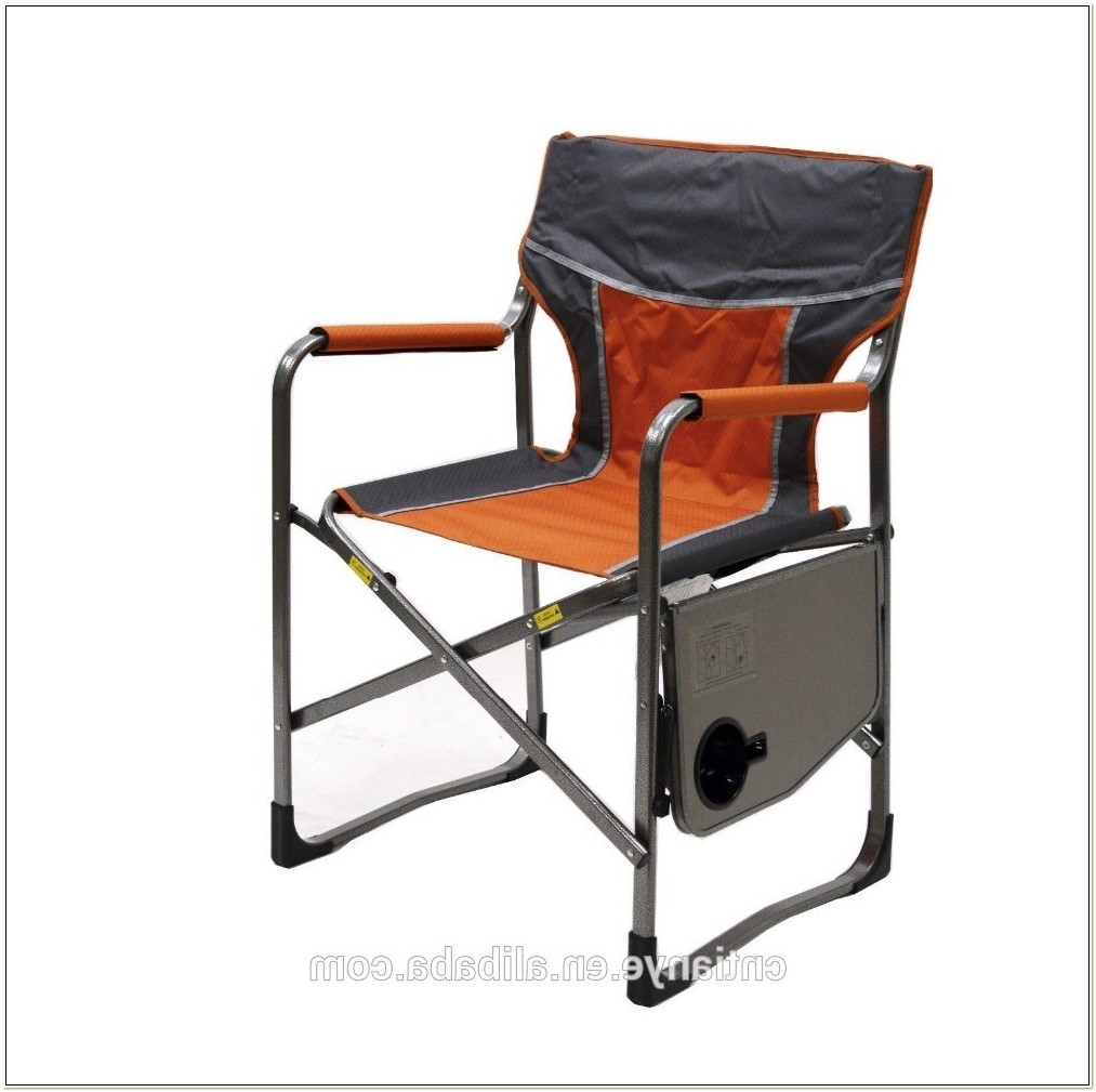 Aluminium Folding Directors Chair With Side Table