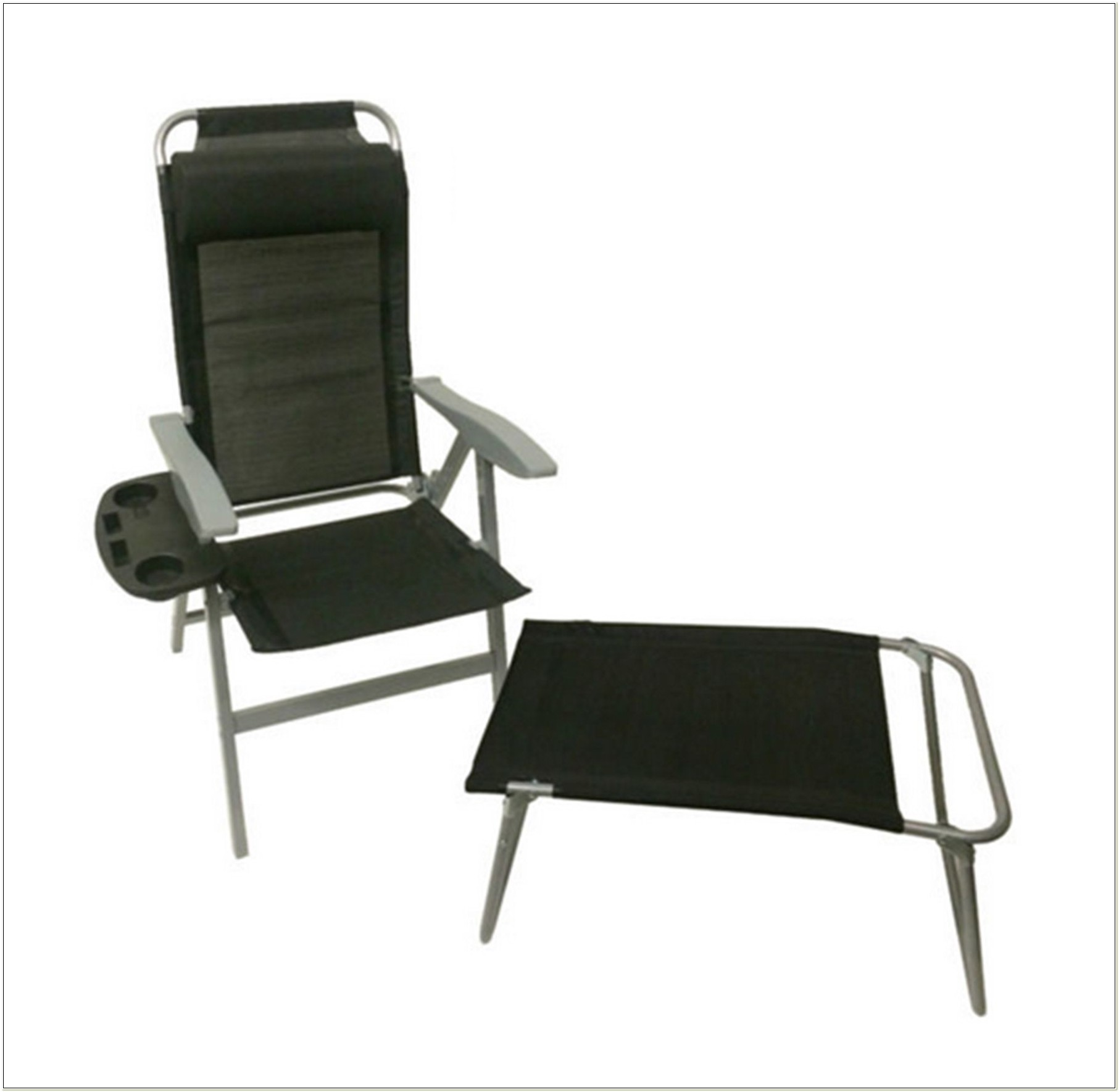 Aluminium Reclining Folding Chair With Footrest