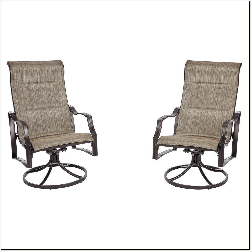 Aluminum Sling Swivel Patio Chairs
