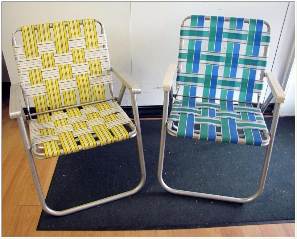 Aluminum Webbed Lawn Chairs Folding
