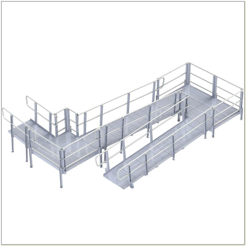 Aluminum Wheelchair Ramp With Handrails