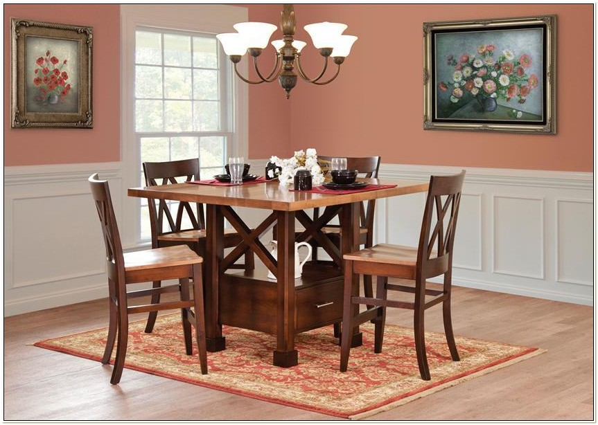 Amish Pub Table And Chairs