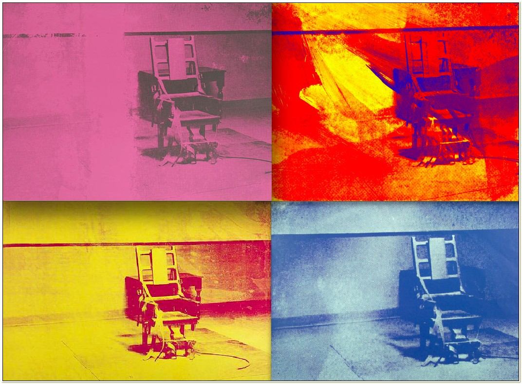 Andy Warhol Electric Chair Series