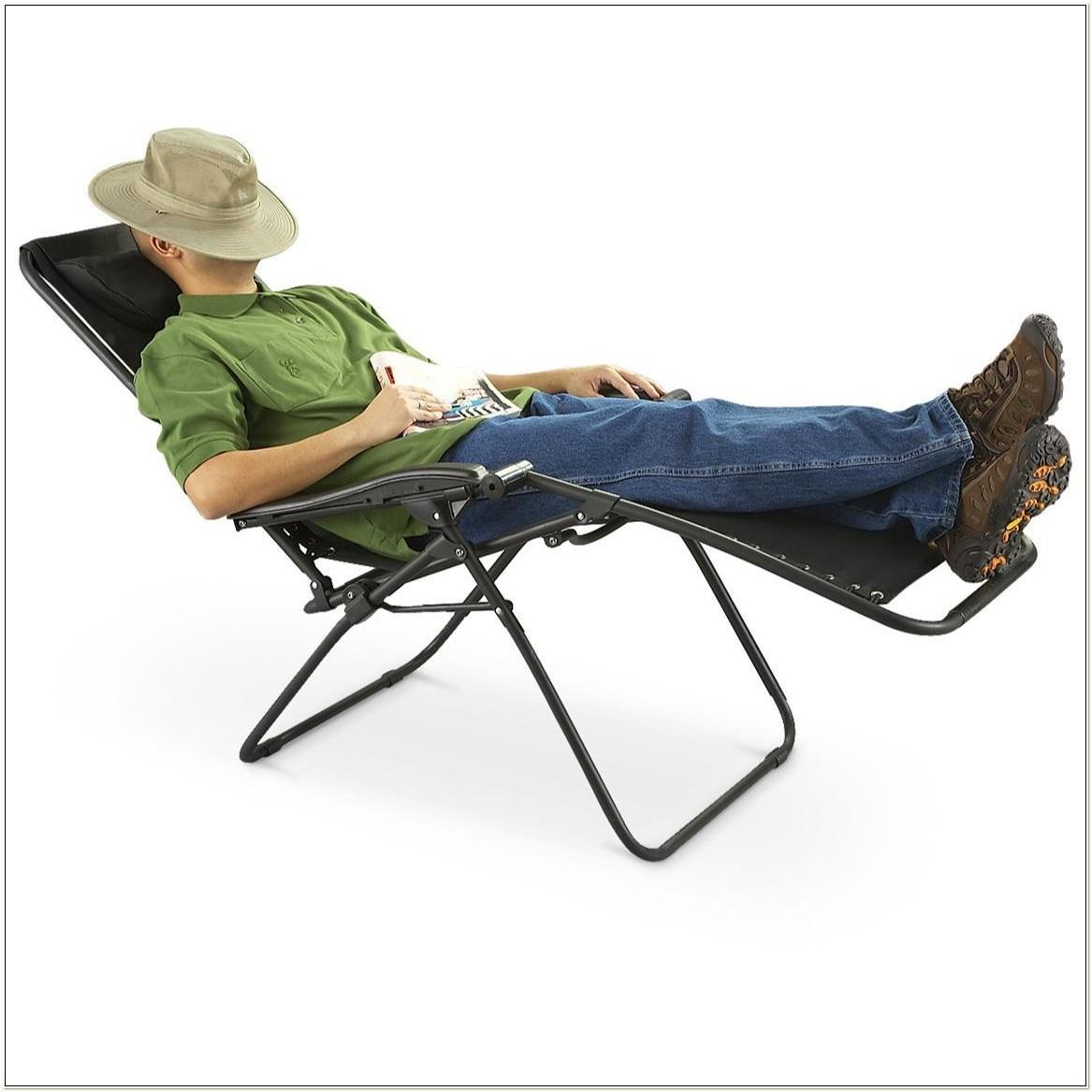 Anti Gravity Reclining Garden Chair Lounger