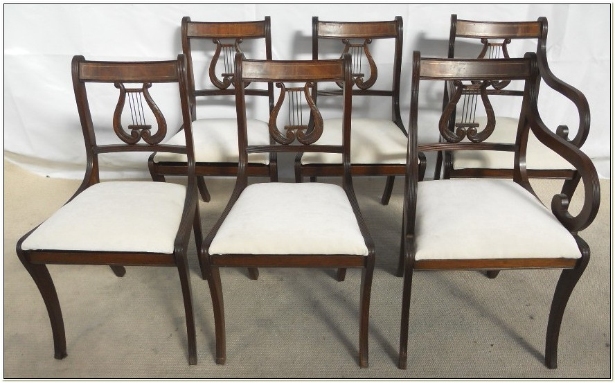 Antique Harp Back Dining Chairs
