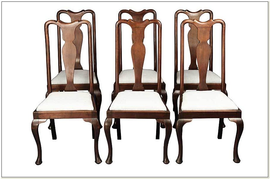 Antique Mahogany Queen Anne Dining Chairs