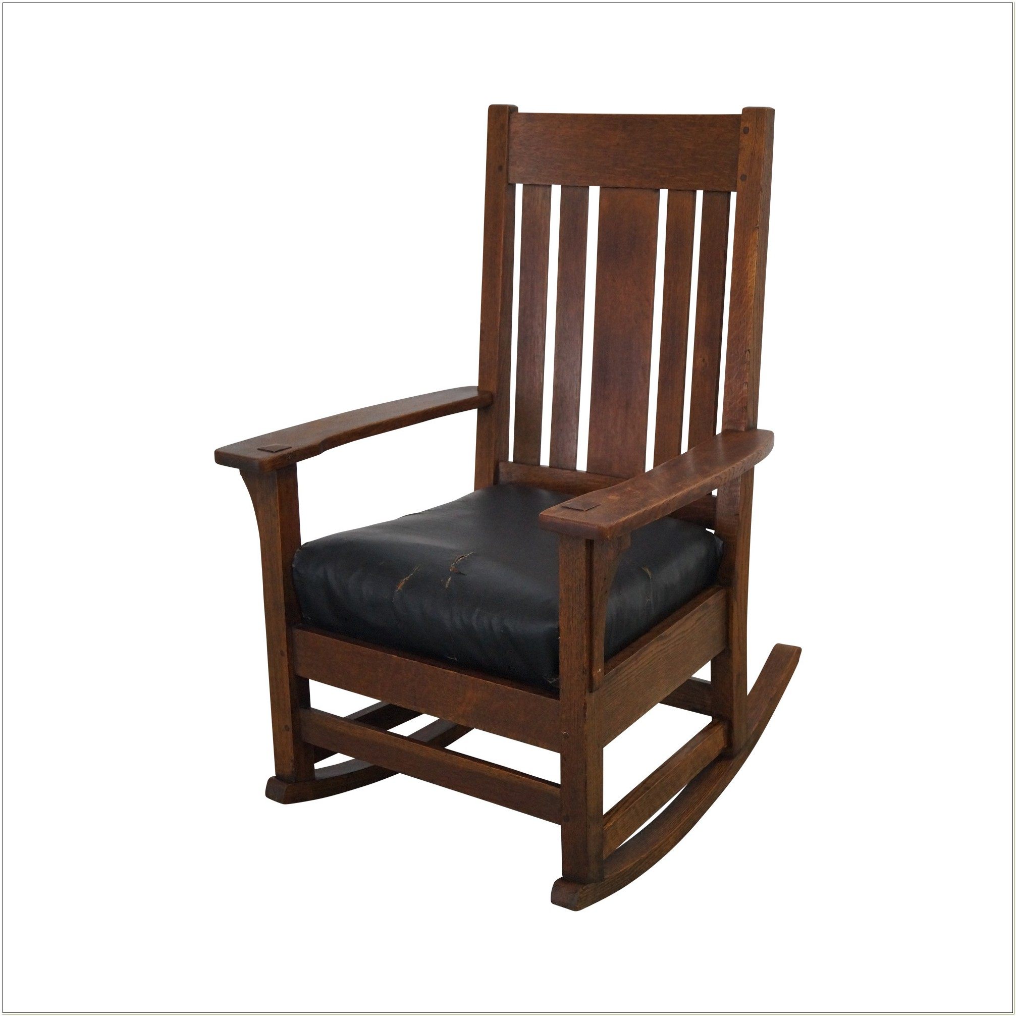 Antique Oak Mission Style Rocking Chair