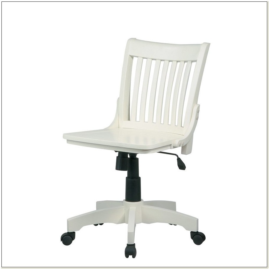 Antique White Bankers Chair