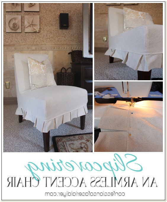 Armless Accent Chair Covers