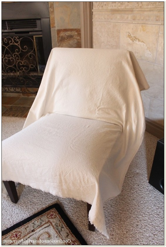 Armless Chair Slip Covers