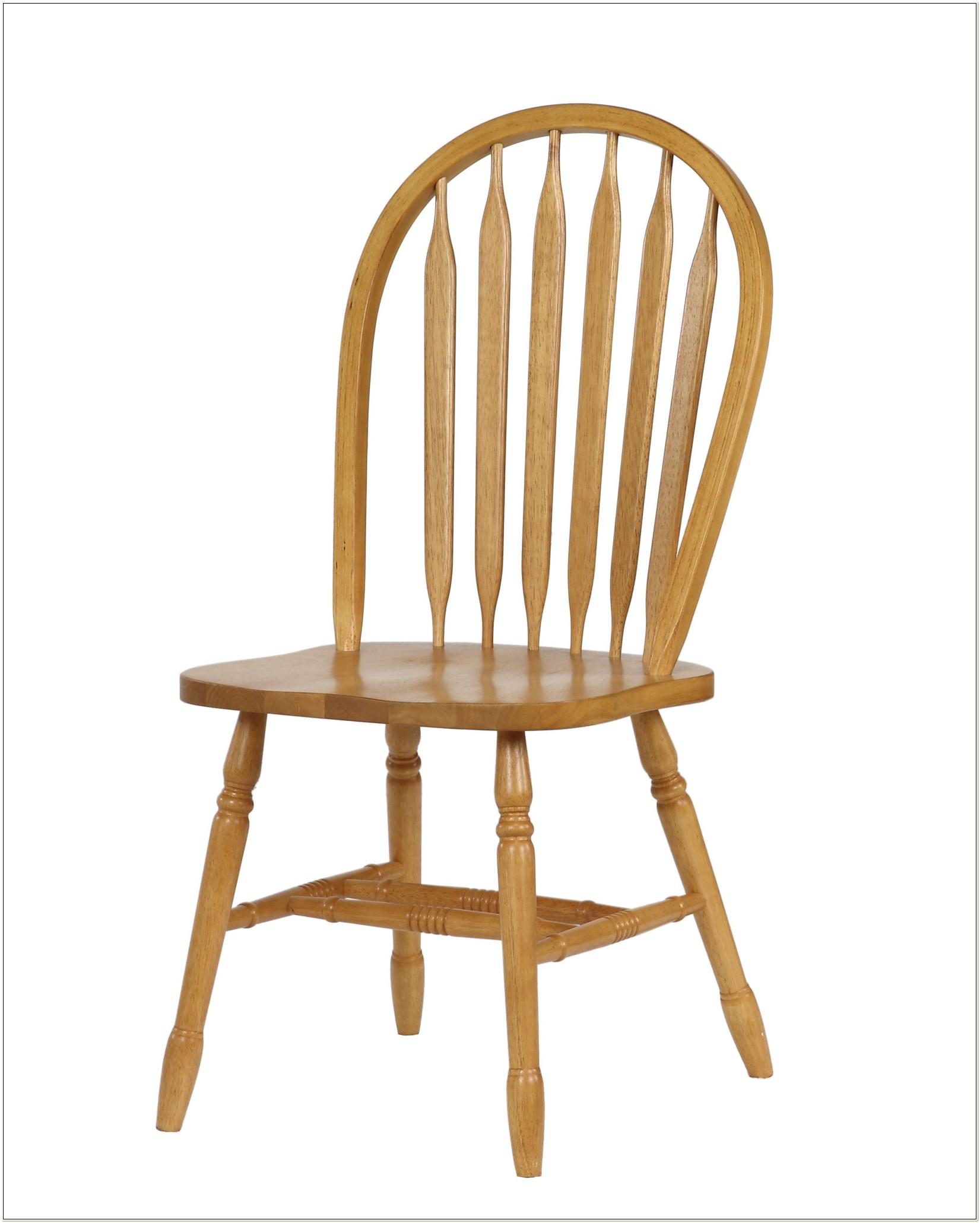 Arrow Back Oak Dining Chairs