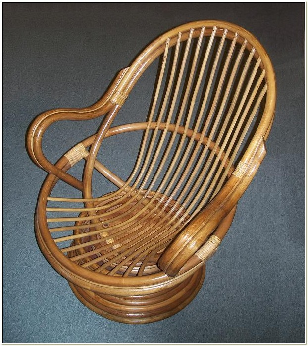 Aruba Rattan Swivel Rocking Chair