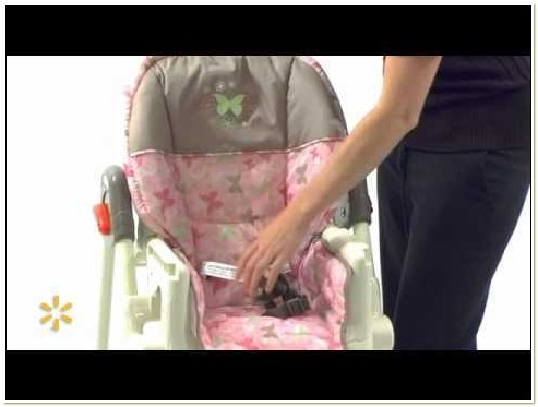Baby Trend Pink Butterfly High Chair
