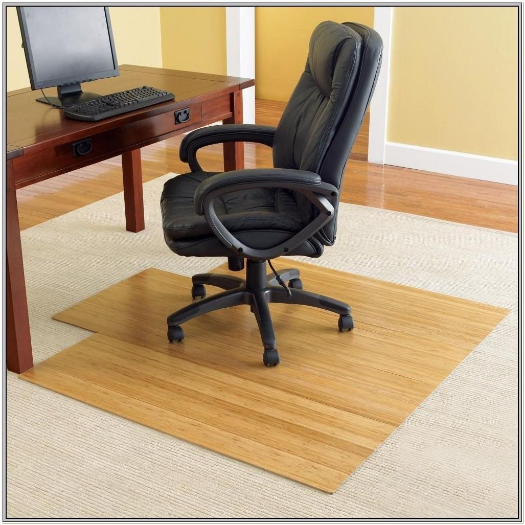 Bamboo Chair Mat For High Pile Carpet