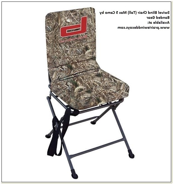 Banded Swivel Blind Chair Tall