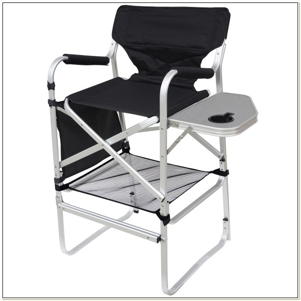 Bar Height Directors Chair With Side Table
