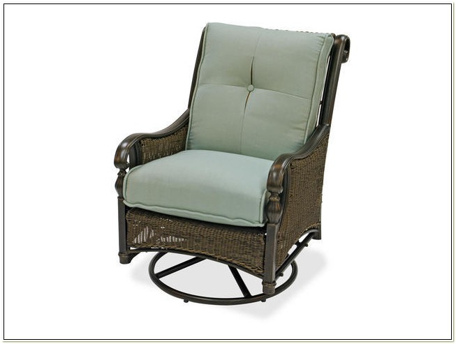 Barcelona Resin Wicker Swivel Glider Lounge Chair