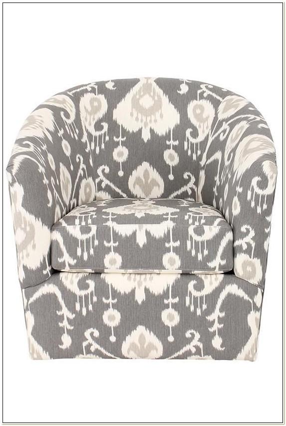 Barrel Swivel Chairs Upholstered