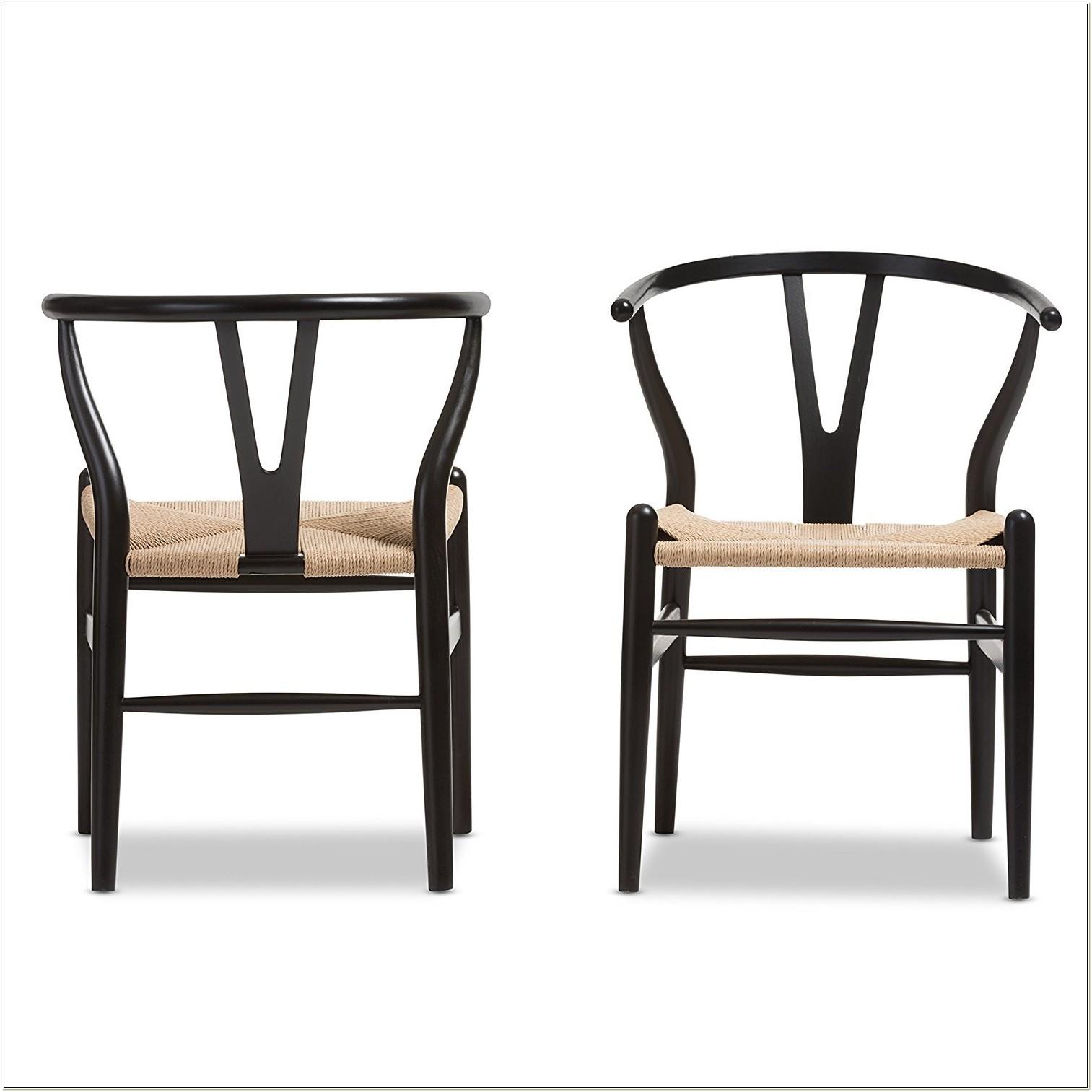 Baxton Studio Wood Wishbone Y Chair