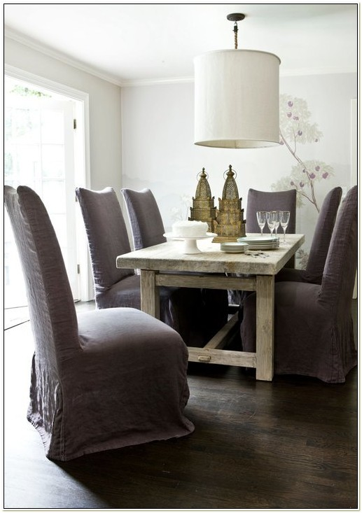 Belgian Linen Dining Chair Slipcovers
