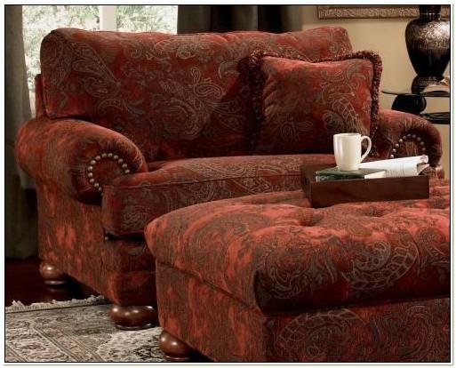 Big Overstuffed Chair With Ottoman