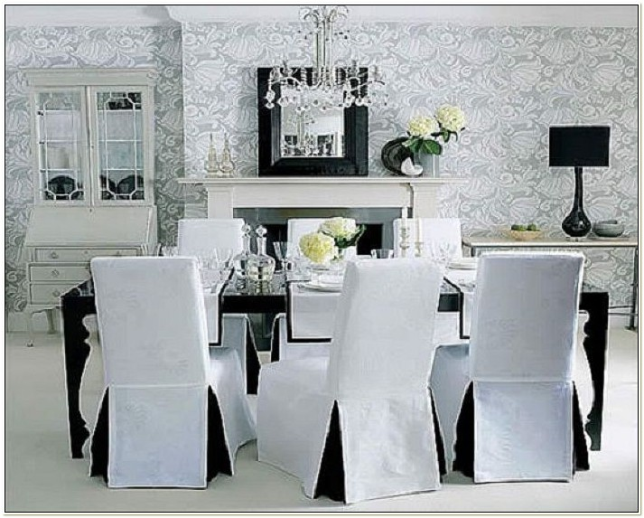 Black And White Dining Chair Slipcovers