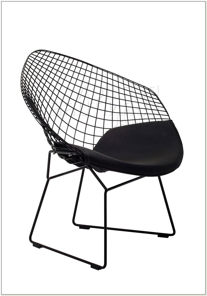 Black Bertoia Diamond Chair Replica