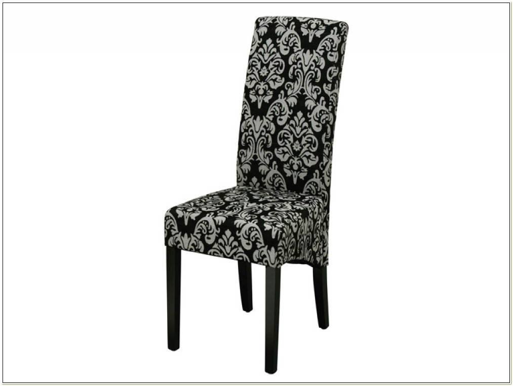 Black Damask Dining Chair Covers