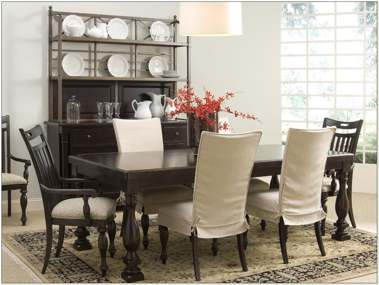 Black Dining Room Chair Slipcovers